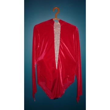 kostium artystyczny 180 cm, czerwony aksamit
