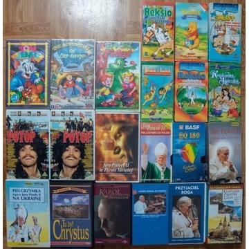 21 VHS Jan Paweł II Potop Reksio Tom Jerry Bolek