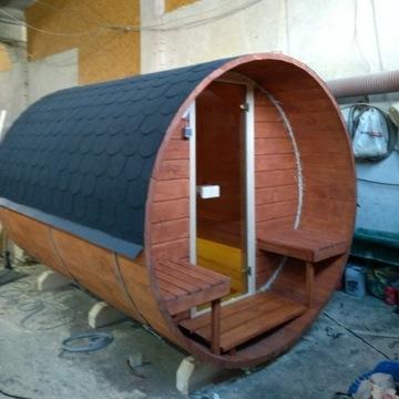 Sauna Fińska ogrodowa balia 3m długa kompletna