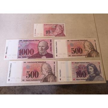 Zestaw 5 banktotów  Rosja