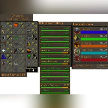 Runescape 2007 konto | 126 combat | 15 99's