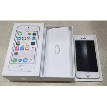 Apple iPhone 5s 32GB SILVER SREBRNY oryginalny