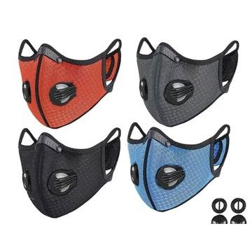 Maska z wymiennymi filtrami 4 kolory