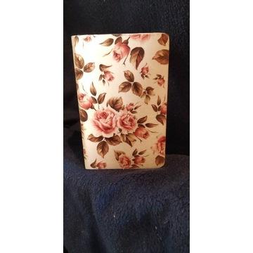 Pudełko na biżuterię,decoupage, rekodzielo, kwiaty
