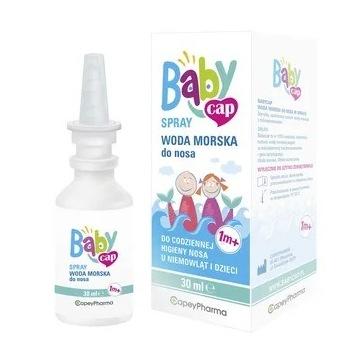 BabyCap, woda morska do nosa, spray, 30 ml.