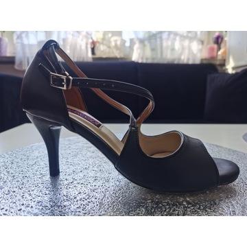 Skórzane buty do tanga tańca argentyńskiego czarne
