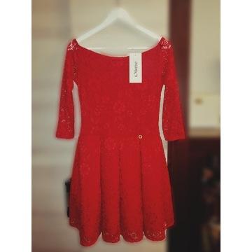 Sukienka czerwona. Piękna, elegancka!