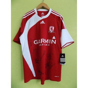 koszulka Middlesbrough fc z autografami adidasnowy