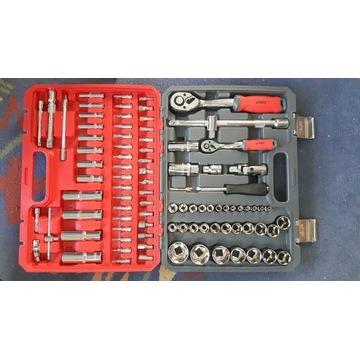 NOWY zestaw kluczy klucze nasadowe walizka VERKE C