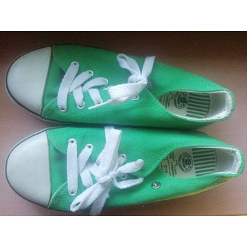 Trampki Dunlop r 32 solidne zielone