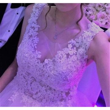 Suknia ślubna ecru piękna 36 S