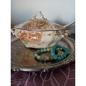 Waza, antyk, S. Fielding & C.,sygnatura, porcelana