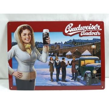 Reklama piwa Budweiser  na blaszce