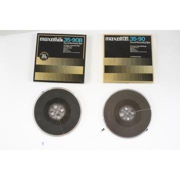 DWIE taśmy MAXELL oryginalne szpule 18 cm pudełka