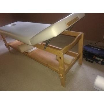 Stacjonarne drewniane łóżko do masażu