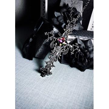 Naszyjnik krzyż łańcuch gothic vintage alternative