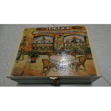 Pudełko herbaciarka Kawiarnia