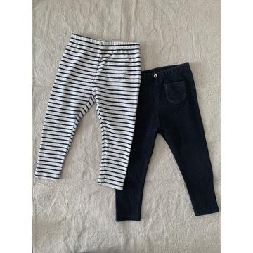 Zara dziewczynka spodnie legginsy rozmiar 92 para