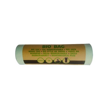 Bio kompostowalne worki na śmieci 140L 3szt