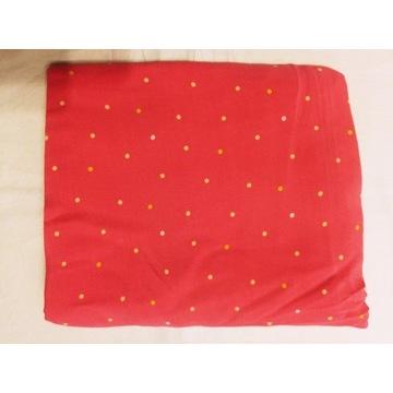 KUPON 145x150 cm tkanina różowa w kropeczki