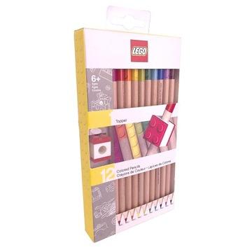 KREDKI LEGO Z KLOCKIEM 12 SZT ZESTAW KREDEK 52064