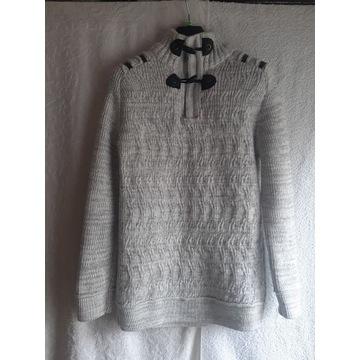 Szary/biały męski sweter wełna Teo Raxx, L/XXL