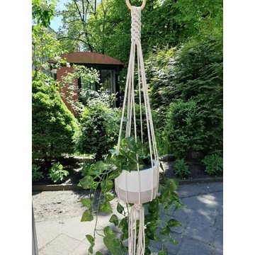 Kwietnik ze sznurka bawełnianego