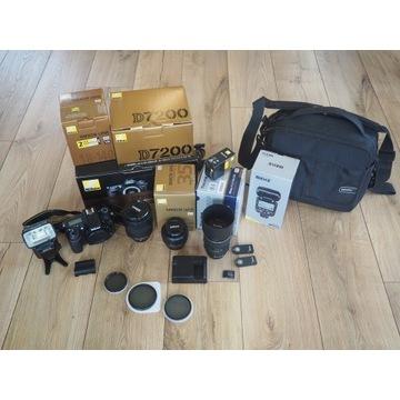 Nikon D7200, 3 Obiektywy, 12tyś. zdj. GRATISY