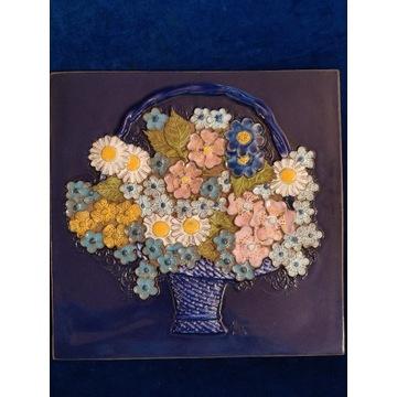 Obrazek ceramiczny Jie Gantofta Kwiaty w koszu 869