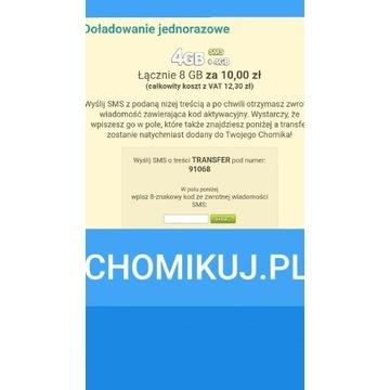 Chomikuj nie 5GB a 8GB - kod SMS na 8GB Beztermino