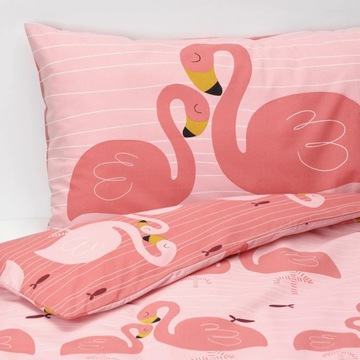 nowa IKEA Rorande 110x125 flamingi poszwa pościel