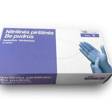 Rękawice nitrylowe- rękawice ochronne rozmiar S