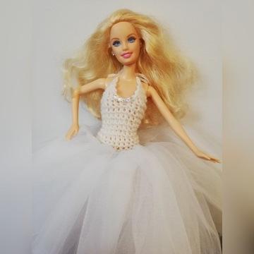 Śliczna lalka Barbie Mattel w pięknej sukni
