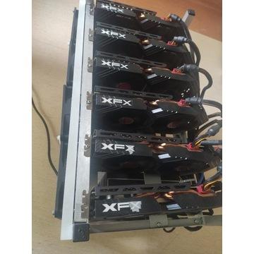 Koparka Kryptowalut 6xRX 580 8GB - 186 mh/s ETH