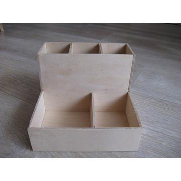 Organizer drewniany na biurko