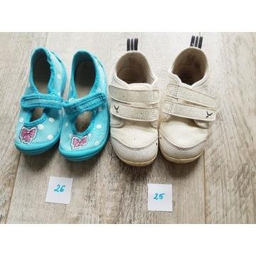 Buty rozmiar 25 i 26 używane 2 pary.