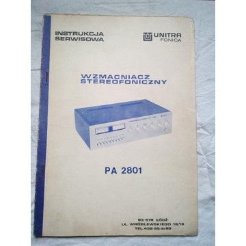 Instrukcja serwisowa wzmacniacz Unitra PA 2801