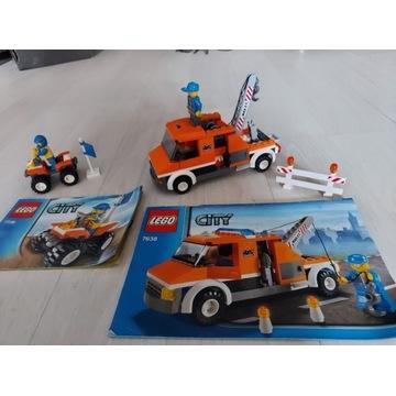 Zestawy Lego City pomoc drogowa 7638 i quad 7736