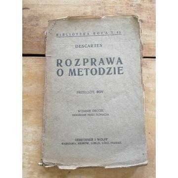 Stara książka ROZPRAWA O METODZIE