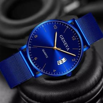 Klasyczny stylowy zegarek kwarcowy z datownikiem