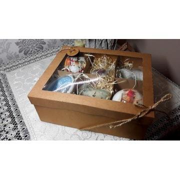 Komplet bombek ręcznie robionych decoupage pudełko