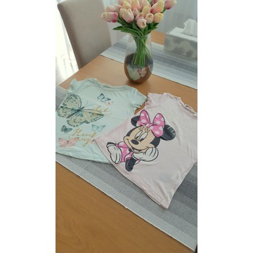 T-shirty, bluzeczki H&M Minnie Motyl 122/128cm