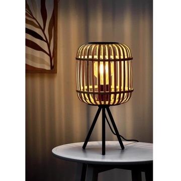 Lampa stołowa Eglo Bordesley czarna/drewno