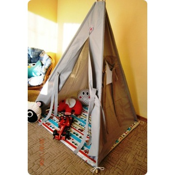 szary namiot tipi -bez stelaża