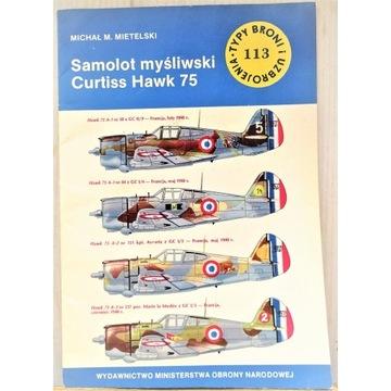 TBiU 113 Samolot myśliwski Curtiss Hawk 75