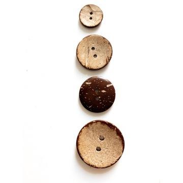Guziki z kokosa guziki kokosowe 30mm
