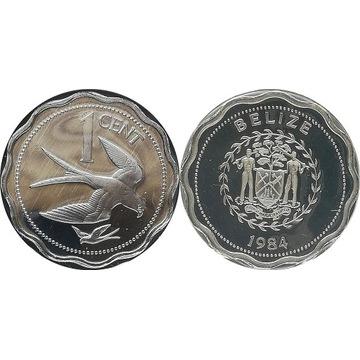 Belize 1 cent 1984 FM, UNC proof, KM#90