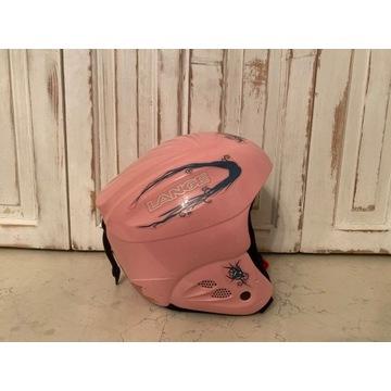 Różowy kask narcierski Lange