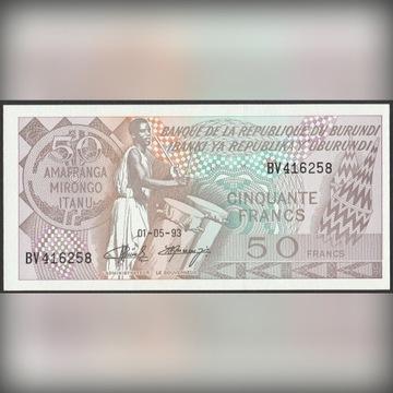 Burundi 50 franków 1993 - stan bankowy UNC
