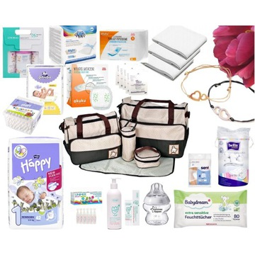 Wyprawka noworodka mamy do szpitala+TORBA 5w1+DVD